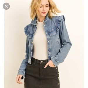 LE LIS for STITCH FIX | ruffled jean jacket